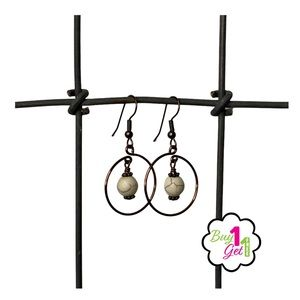 Jewelry - Marbled French Cooper Wire Fashion Earrings